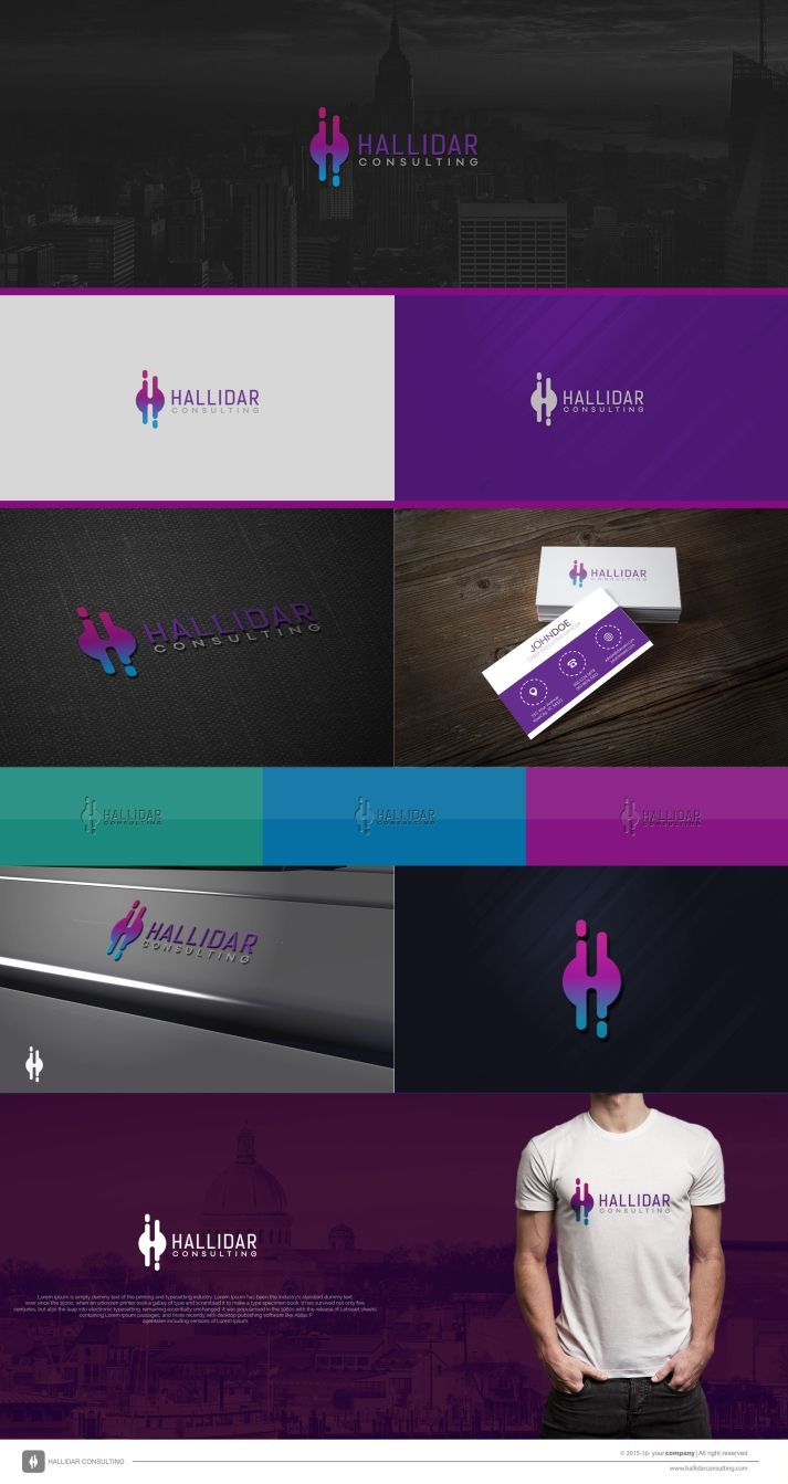 Sophisticated logo for HALLIDAR CONSULTING. Designer logo by : Dito.K