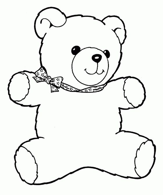 Teddy bear coloring pages for kids free - Free teddy bear pics ...