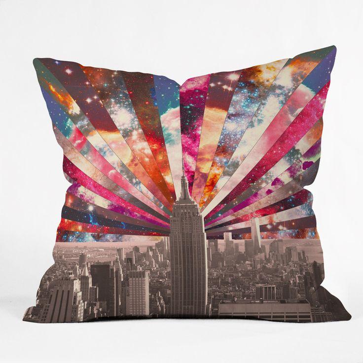 Bianca Green Superstar New York Throw Pillow | DENY Designs Home Accessories