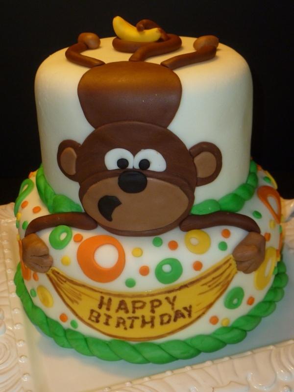 monkey cake, cute for my evil monkey!!