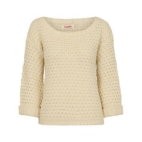 popcorn knit jumper