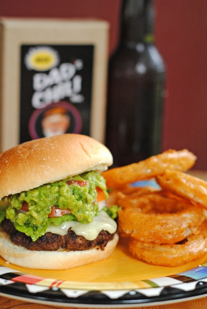 Chili Cheddar Burgers with Grilled Guacamole, and Spicy Beer-Battered ...