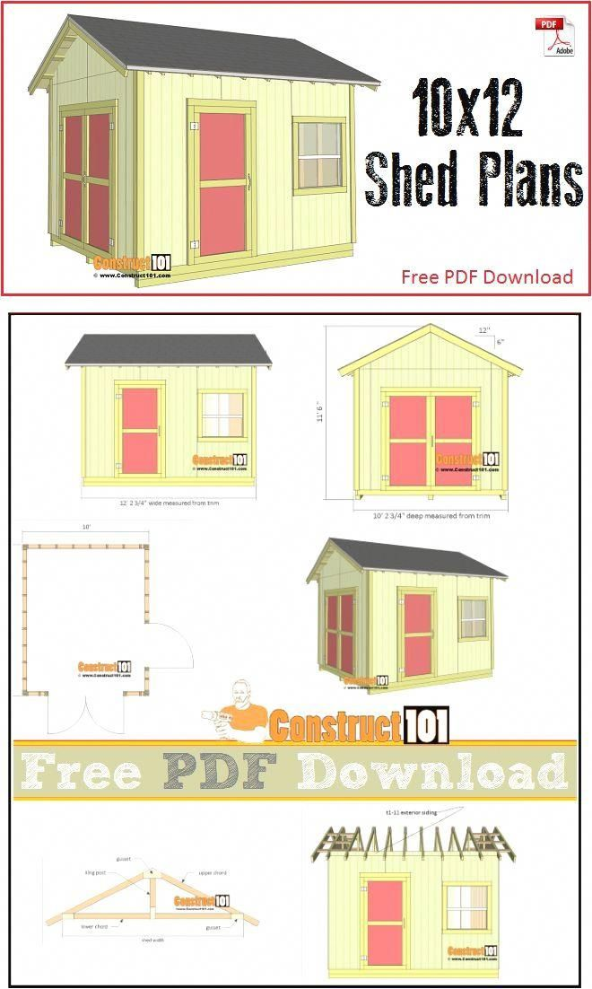 Shed Plans 10x14 Free And Pics Of Storage Shed Build Kits Diyproject Shedprojects Shedbuildingkit Diy Shed Plans 10x12 Shed Plans Shed Plans