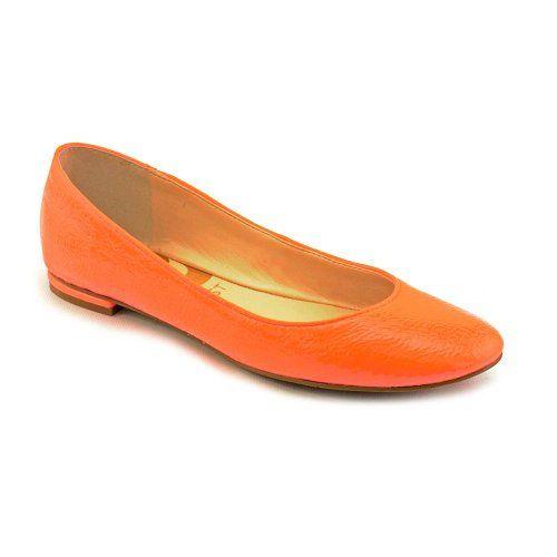 Nine West Our Love Womens Size 6.5 Orange Flats Shoes [SHOES & HANDBAGS]