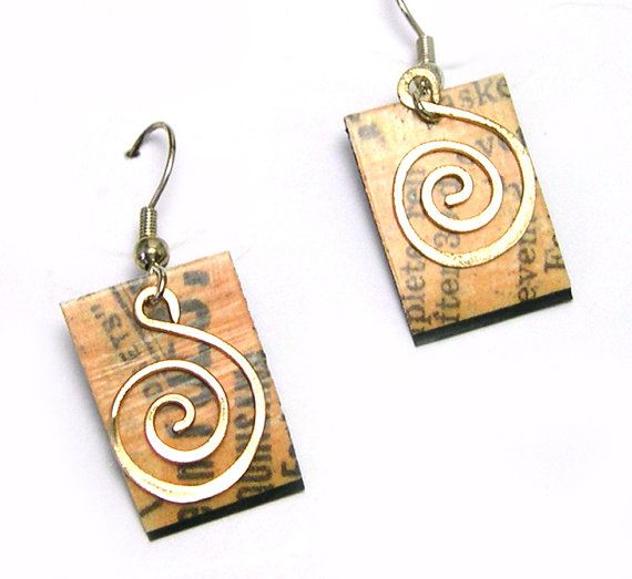 27 best images about diy decoupage earrings on pinterest for How to make paper mache jewelry