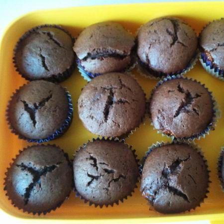 Bögrés kakaós muffin