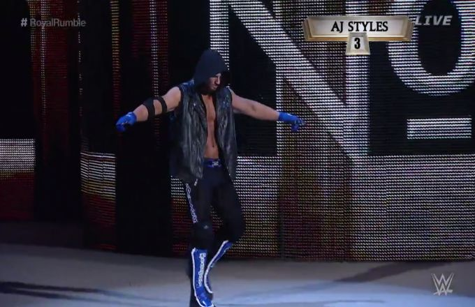 aj styles wwe debut | AJ Styles Made His Offical WWE Debut During Tonight's Royal Rumble ...