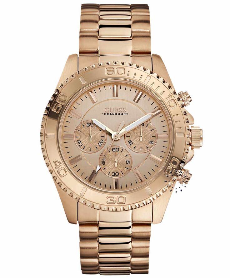 GUESS Chronograph Rose Gold Stainless Steel Bracelet Τιμή: 229€ http://www.oroloi.gr/product_info.php?products_id=35138