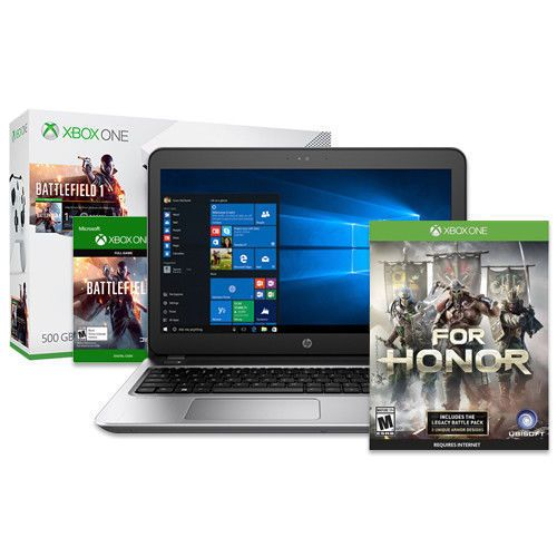 * HP Probook Laptop + Xbox One S Battlefield 500GB+For Honor Day1 deal  * $599.99  * %39 off