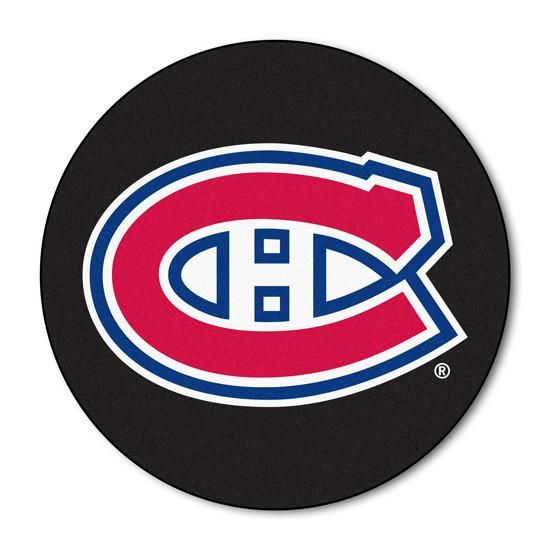 Montreal Canadiens puck shaped floor mat