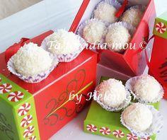 Τα original  Raffaello είναι μικρά, λευκά, σφαιρικά, σοκολατάκια από Ινδοκάρυδο, τραγανή γκοφρέτα και λευκό αμύγδαλο, τα οποία παρουσίασε ...