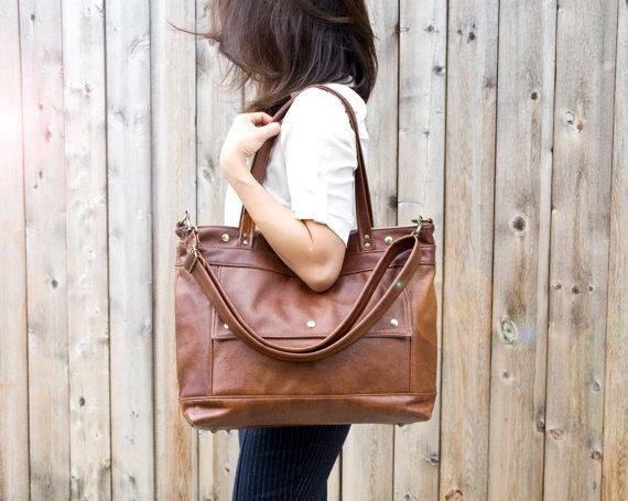 Leather Laptop Bag Leather Tote Professional by JennyNDesign - might have to gift to myself after graduation
