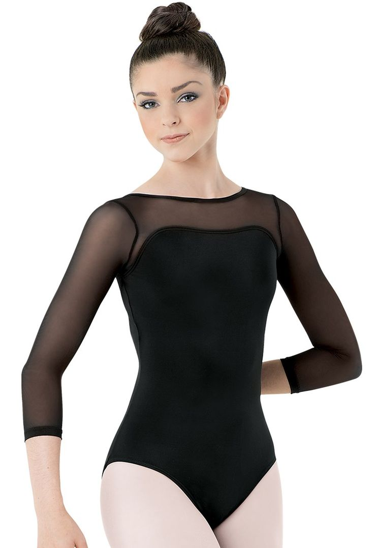Mesh 3/4-Sleeve Leotard | Balera™