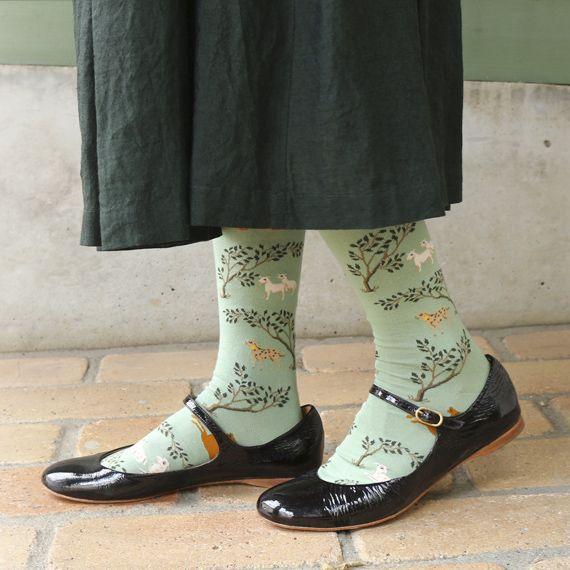 [Envelope online shop] Bonne Maison socks long Lisette Tights & Socks  Warm and stylish socks made with Egyptian cotton