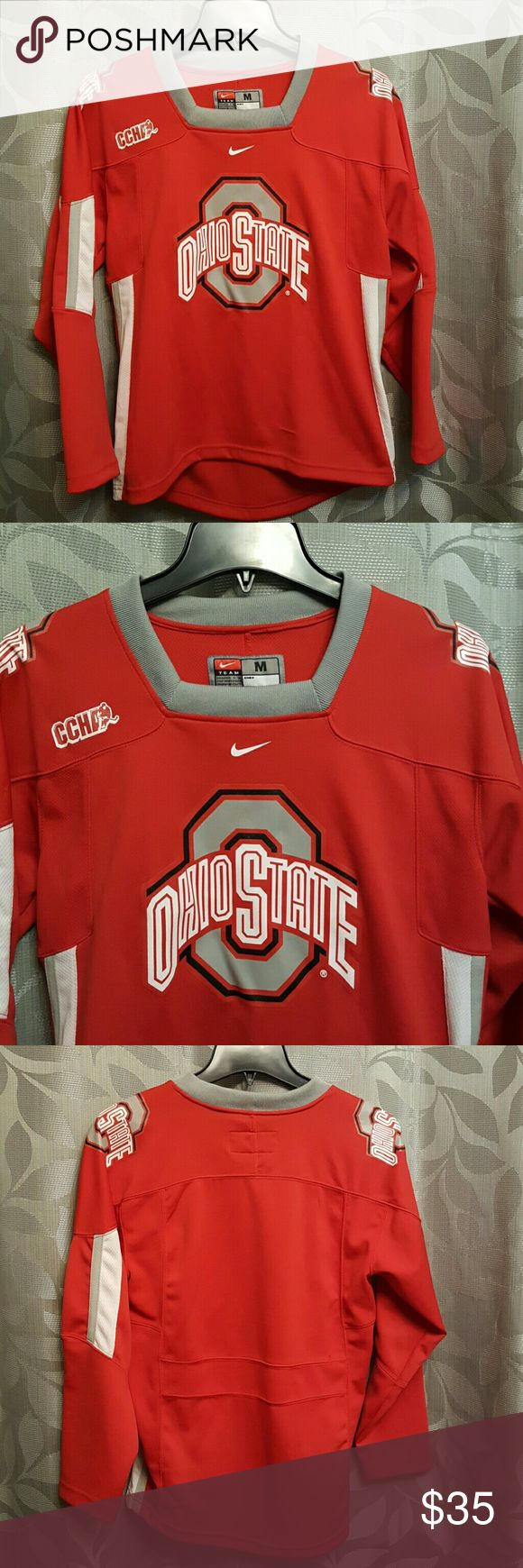 Youth Ohio State Hockey Jersey Has a few small snags In good condition otherwise  Youth 12/14 Would fit small ladies Nike Shirts & Tops