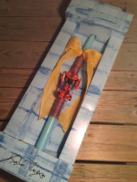 Transformer Easter Candle, $24.54 at the Greek Wedding Shop ~ http://www.greekweddingshop.com/