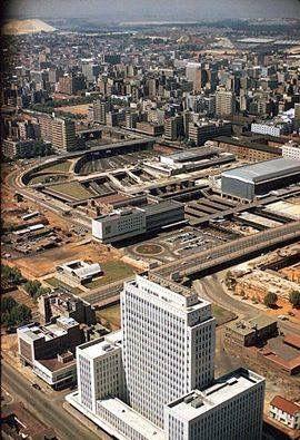 Johannesburg skyline circa 1960