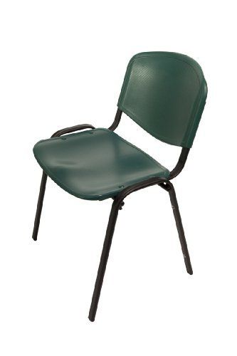 Ergocraft SS-19350-BF-6026 Active Stacking Chair with Black Frame by Ergocraft. $285.06. High impact polypropylene shells - green. Available in chrome or black frame. Available in 7 different colors. Stacks 10 chairs high. Study steel frame construction. The active stacking chair has sturdy steel frame available in chrome or black. The seat and back are made of high-impact polypropylene shells that are durable and easy to clean.. Save 50%!