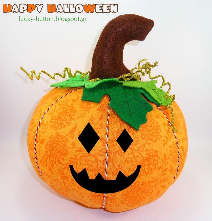 Happy halloween,  Fabric pumpkin,