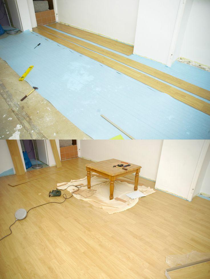 Během velikonočních prázdnin jsme s manželem položili novou podlahu...