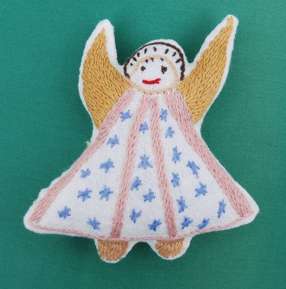Hand embroidered Cloth Dolls Angels