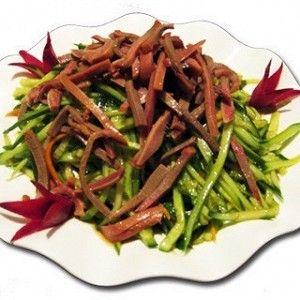Китайская кухня - салат из языка, фунчезы, овощей