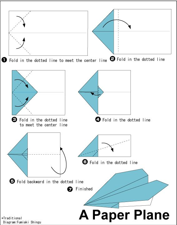 Special Interest Area | A Variety of Simple Origami Paper Plane Instruction Cards and paper