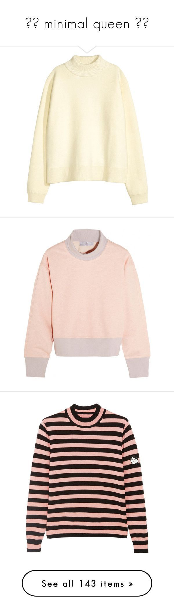 """""""✨🌙 minimal queen 🌙✨"""" by grunge-alien ❤ liked on Polyvore featuring tops, sweaters, white, white top, embellished sweaters, studded sweaters, slimming tops, balmain sweater, natural white and long sleeve tops"""