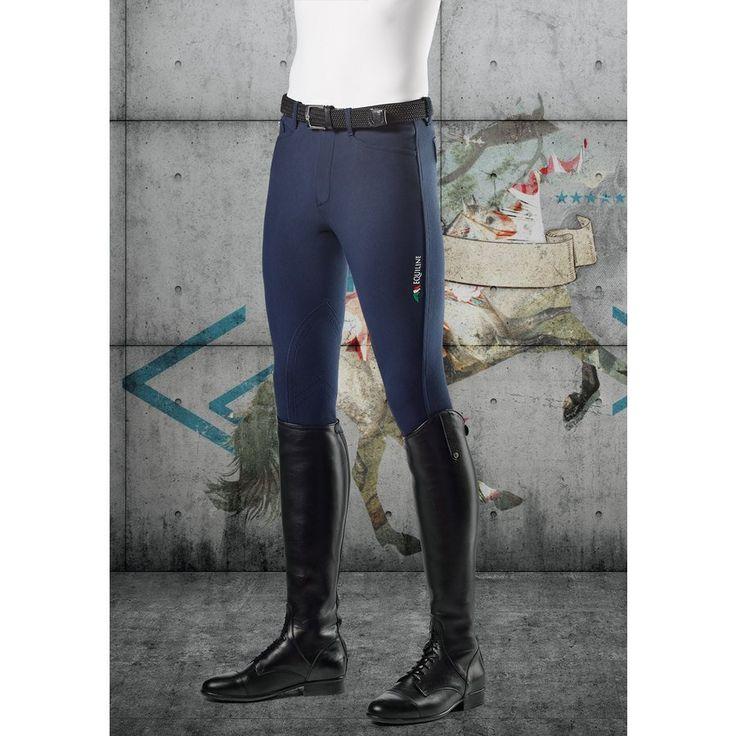 Pantaloni da uomo Equiline modello Grafton con logo realizzati in microfibra E-Plus