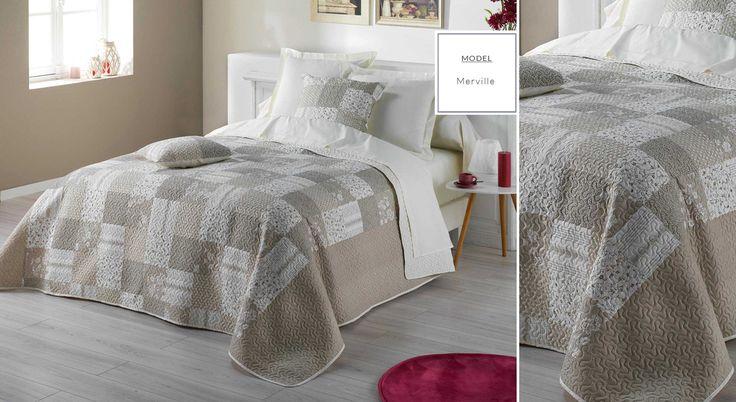 Francúzske prehozy s potlačou | Prehoz na posteľ s potlačou Merville | Bytový textil a dekorácie | dekorstudio.sk
