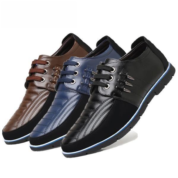 Men's Shoes Autumn Leather Men Casual Shoes(Buy 2 Get 10