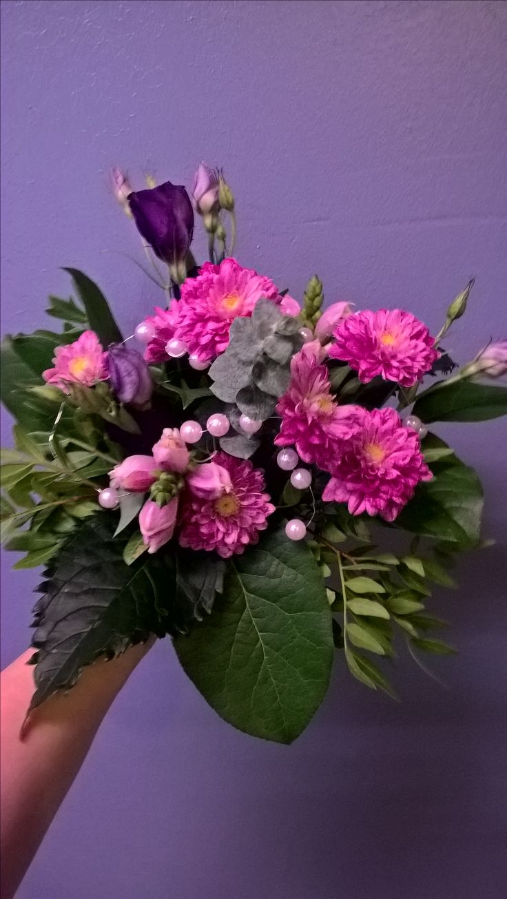 Bouquet for christening of baby girl.