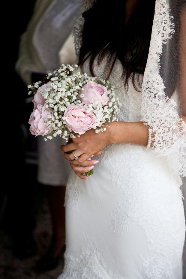 Diy Bridal Wedding Flowers Weddingbouquet Peonies Gypsophila