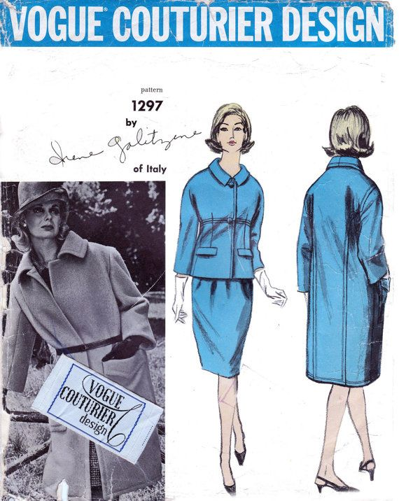 Vintage 1960s Sewing Pattern Vogue by allthepreciousthings on Etsy, $60.00