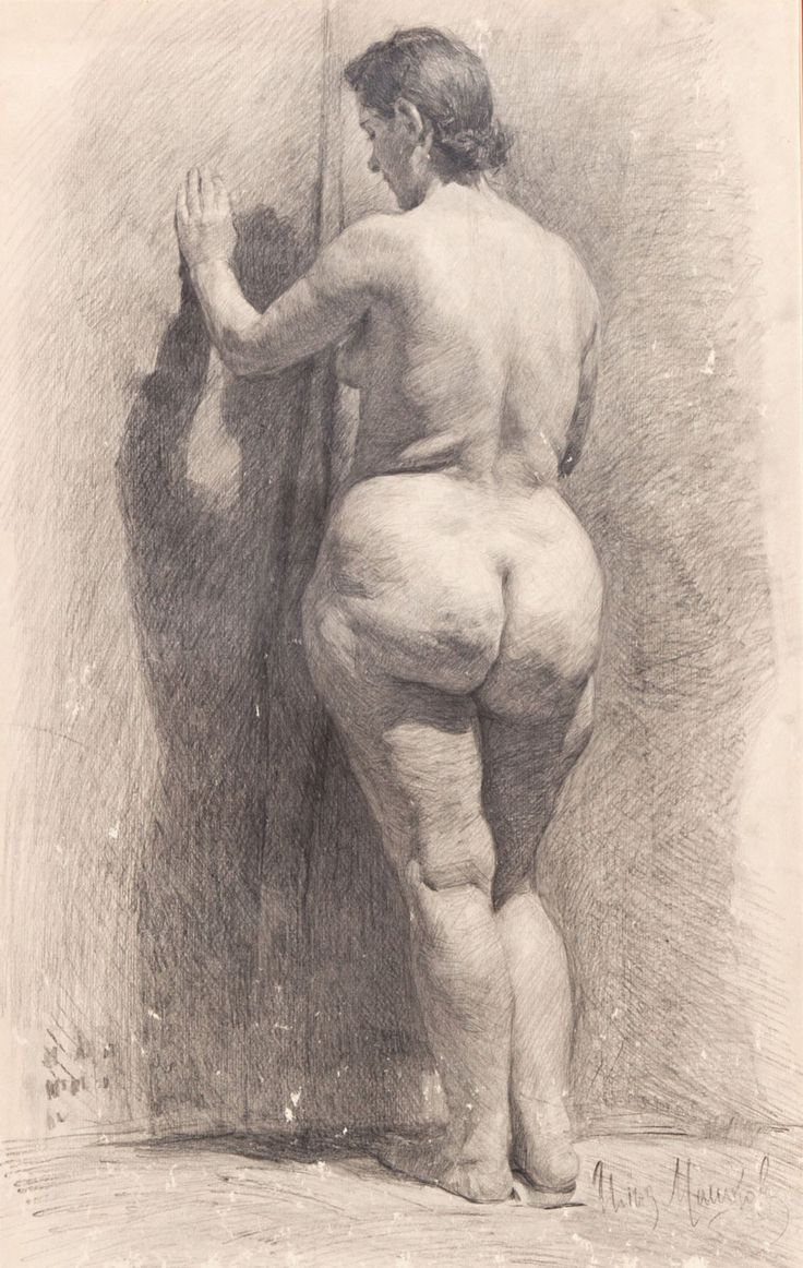 FINE ART DRAWING ILYA IVANOVICH MASHKOV (RUSSIAN 1881-1944)  Nude graphite on paper https://www.facebook.com/TheNudismAndNaturismDailyNews