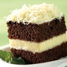 Gateau African Fla Cheese Kraft Bahan: 7 kuning telur 3 putih telur 100 gr gula pasir 85 gr tepung terigu protein sedang 25 gr cokelat bubuk 15 gr tepung maizena 1/2 sdt baking powder 100 gr margar…