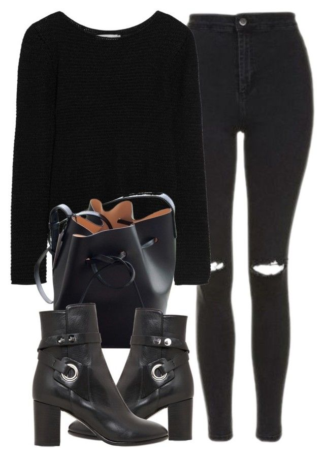 """Untitled #6901"" by laurenmboot ❤ liked on Polyvore featuring Topshop, Kain, Mansur Gavriel and Isabel Marant"