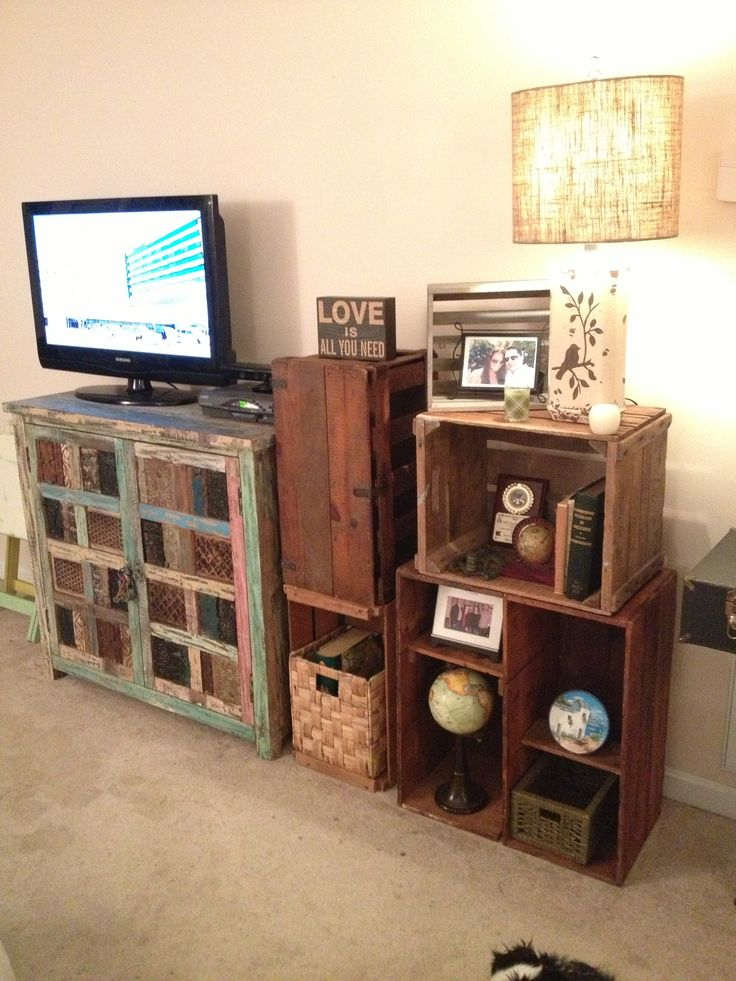 Rustic Crate Bookshelf By Furniture Alchemy Vintage Crates Repurpose Old Crates Upcycled
