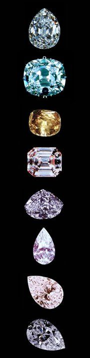 The Big 8 Diamonds from the Cullinan mine.