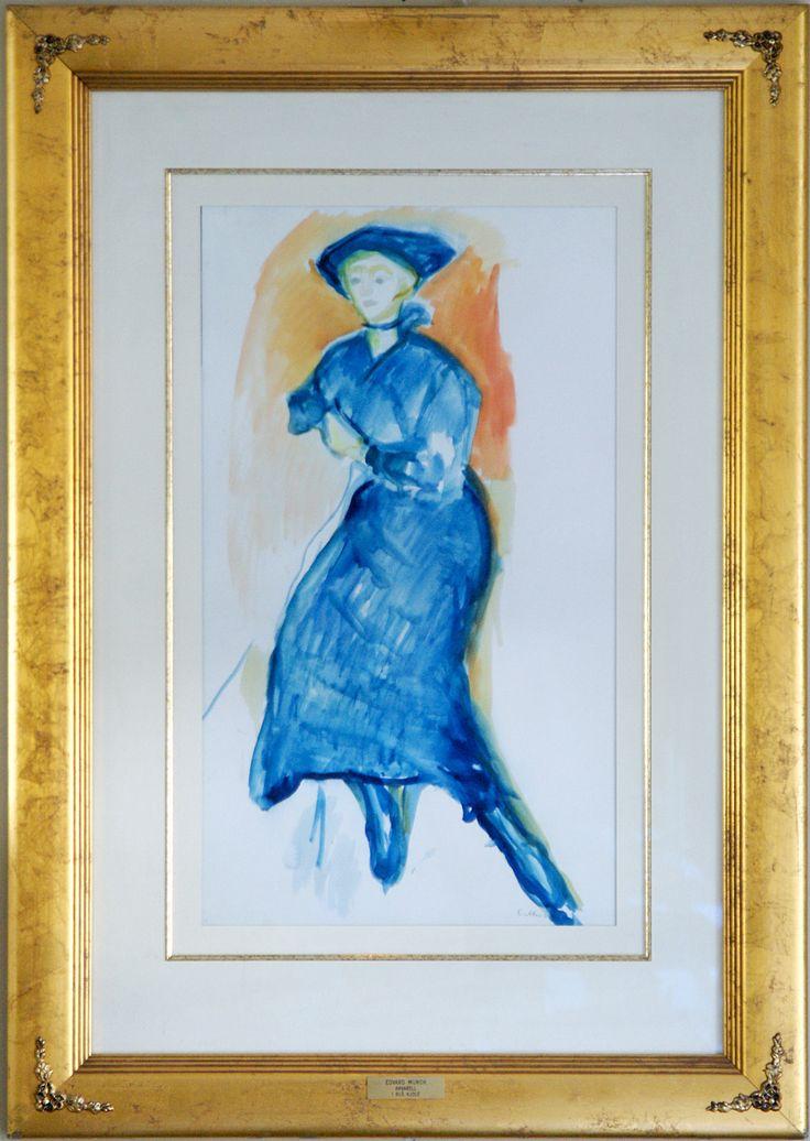 Blå kjole by Edward Munch