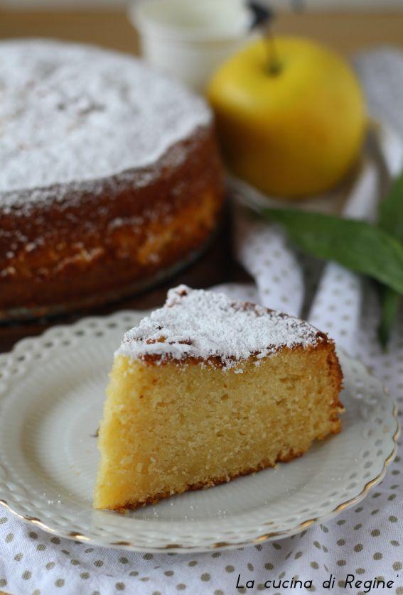 Torta sette vasetti mele grattugiate e limone, una torta profumatissima e morbidissima per la presenza dello yogurt e mele grattugiate nell'impasto