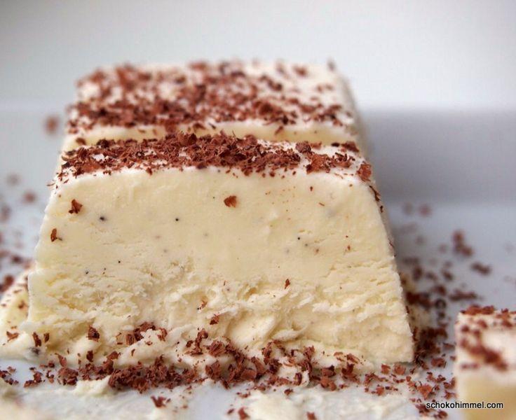 Zeit für Eis: weißes Schoko-Parfait, supersahnig - Schokohimmel