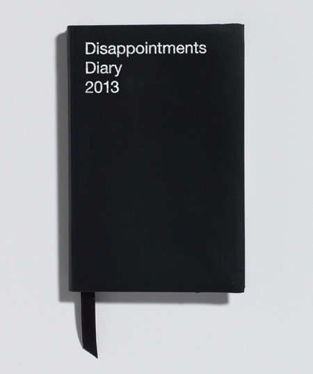 The Disappointments Diary is a Cynical 2013 Black Journal #design #creativity trendhunter.com