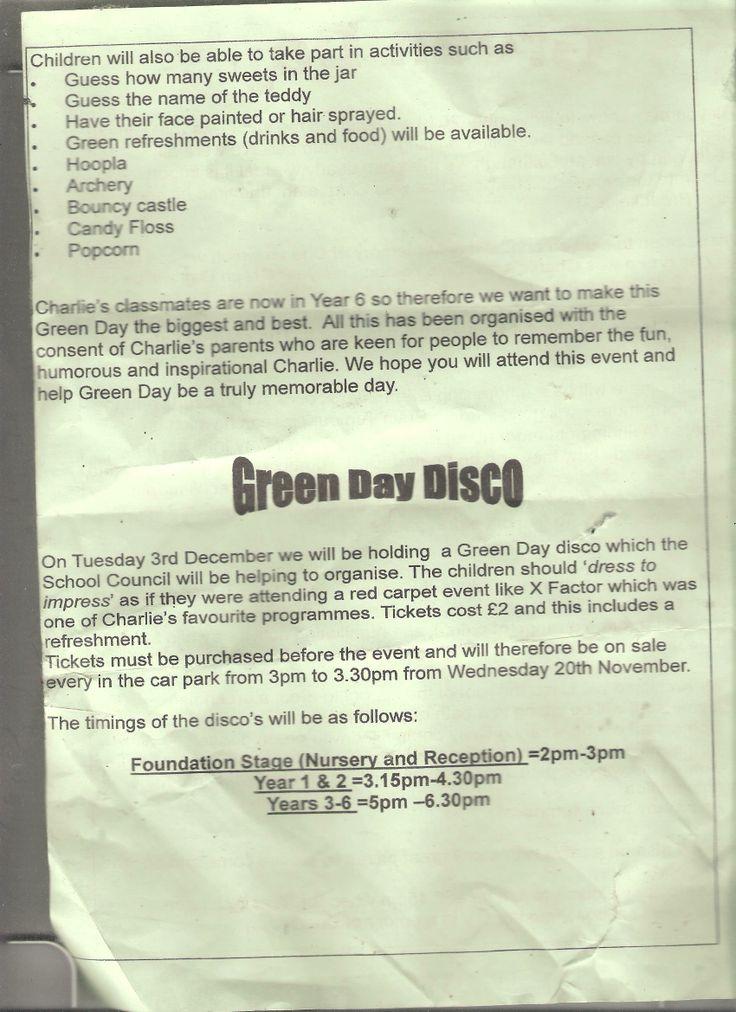 Green day letter pt 2