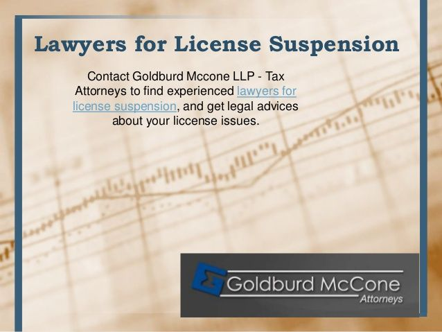 License Suspension Tax Lawyer