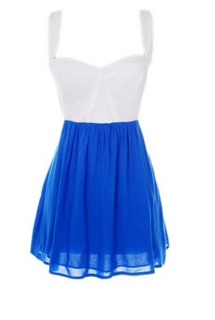 Love the bodice and the bright blue!