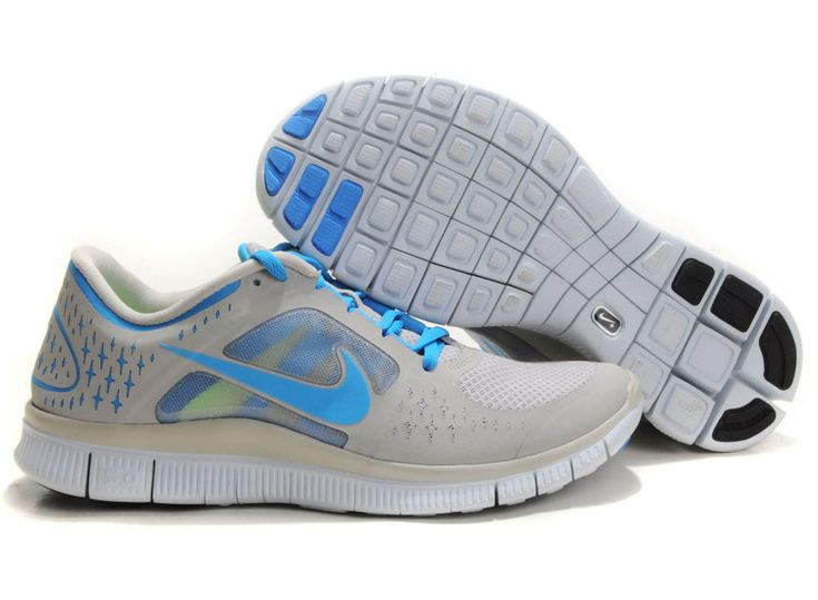 ... Cheap Nike Free Run 3 Men Light Grey Blue