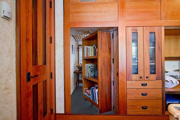Handsome woodwork hiding a secret room