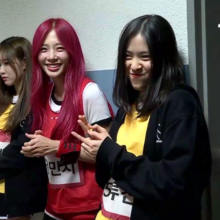Rhujin x Minji in Mixnine #신류진 #믹스나인 #JYP