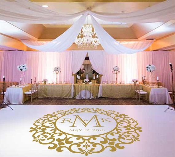 Wedding Dance Floor DecalVinyl Decal Wedding Decor by SignJunkies
